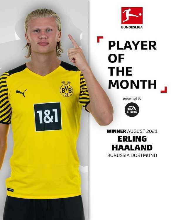 Oficjalnie: Erling Haaland piłkarzem miesiąca w Bundeslidze